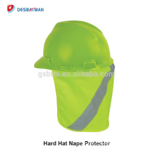 En gros Personnalisé Couleur Et Taille Respirant Réfléchissant Sécurité Casque Cap Ombre Chapeau OEM Logo Protection Solaire À Large Bord Chapeau