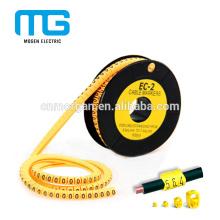Número de tubo marcador de cable termoencogible de 0 a 9