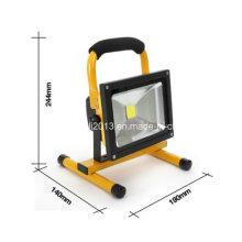 10W portátil LED luz de trabajo sin cuerda recargable IP65 12V LED luz de mano de la lámpara