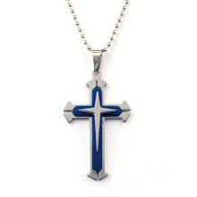 Acier inoxydable hommes unisexe Croix pendentif