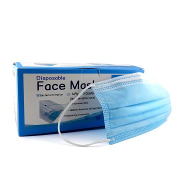 Anti-virus chirurgical jetable stérile de masque facial de 3 plis