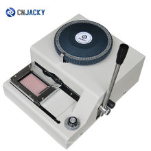 Manual ID Russian / English Letters PVC Card Embossing Machine