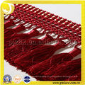 Высококачественная занавеска Fringe Crystal Bead Curtain Fringes для платьев Red Tassel Fringe