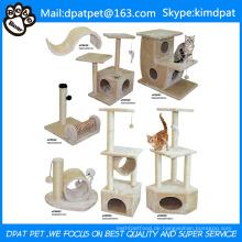 Sisal Scratch Posts Deluxe DIY Katzenbaum mit Kletterseil Spielzeug