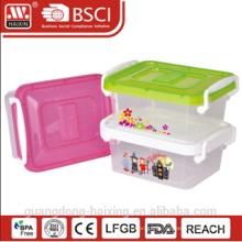 conteneur de stockage en plastique w/roues 1L