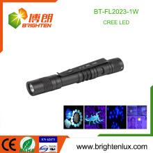 Vente en vrac en usine 1 * AA Batterie à piles Petit Mini Power Curing Gel Aluminium 1W led uv Torch Pen