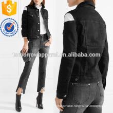 Cutout Stretch-denim Coat Manufacture Wholesale Fashion Women Apparel (TA3028C)