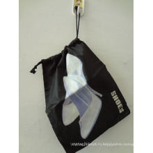 190d полиэстер Drawstring Чистка сумка (HBSH-15)