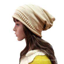 Mulheres moda acrílico de malha inverno chapéu gorro quente (yky3124)