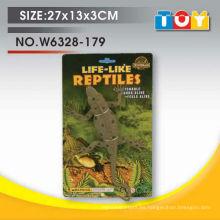 Diseño de modelo de lagarto de animal de plástico suave con todo el informe de prueba
