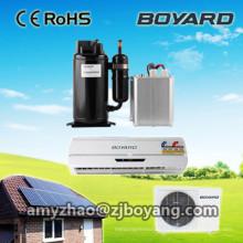 Climatiseur portatif solaire hybride à paroi fendue avec compresseur hermétique hermétique dc 48v de Boyard