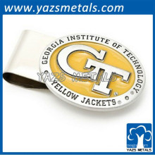 изготовленный на заказ металл выгравировать логотип зажим для денег