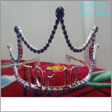 Wholesale Fashion pearl large pageant crowns full tall personalized paper tiaras