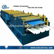 Machine de fabrication de feuilles de toit à double étage / Double couche de machine ondulée et trapézoïdale formant un rouleau / Double Deck Panneau de toiture