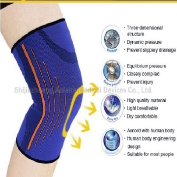 การบีบอัด Nylon Elastic Knee Support Brace Sleeve