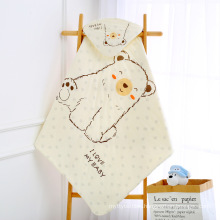 animal print tricot baby swaddle crib bedding muslin swaddle baby kids blankets