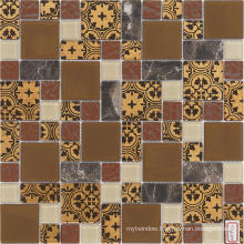 4mm Decoration Material Wall and Floor Tile Glass Mosaic