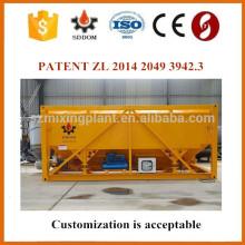 Silo de ciment horizontal, silo de ciment mobile, silo de ciment portable