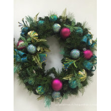 Couronne de Noël avec Silk and Flora Deco (OEM welcome)