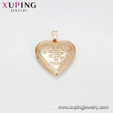 33276 Arábia Saudita ouro moda jóias Coração pingente de ouro gravar peixes forma pisces pingente