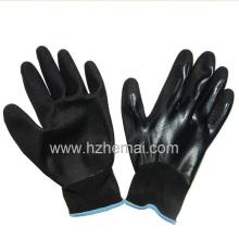 Gants trempés entièrement en nitrile avec le gant de travail de sécurité Palm Nitrile