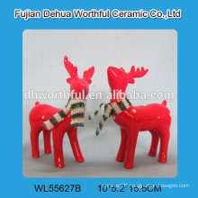 2016 hot selling ceramic christmas crafts,ceramic reindeer christmas decoration