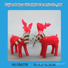 2016 hot selling ceramic christmas crafts,ceramic reindeer christmas decoration
