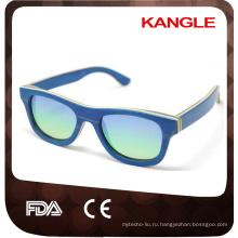ручной работы Китай оптом зеркало объектива uv400 поляризованные скейтборд деревянные очки