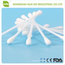 Con palo de madera o de bambú Estéril absorbente de algodón punta aplicador