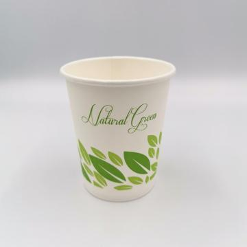 Taza de papel de café 100% biodegradable desechable, 8 oz