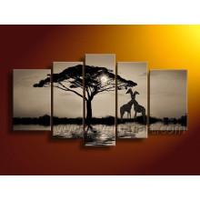 Современные белые и черные африканские картины маслом искусства на холсте (AR-116)