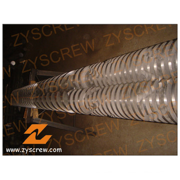 Wear Resisting Bimetallic Mixing Type Conical Twin Screw  Zyt365