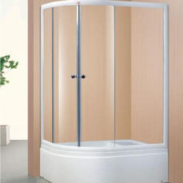 Oval Simple Champagne Aluminum Shower Room