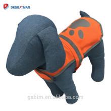 Chaleco reflectante al por mayor del perro del animal doméstico de la seguridad con las sujeciones ajustables del gancho y del lazo
