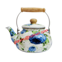 enamel kettle with bakelite handle and full design