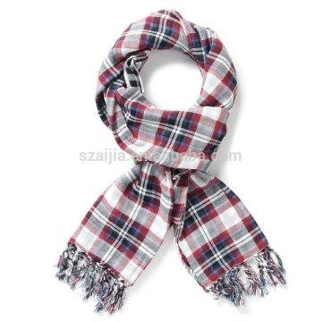 Bufanda larga de la chica joven de la tela escocesa del algodón de la manera 100