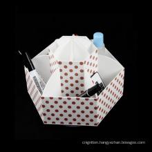 OEM office supplies plastic desk organizer spinner acrylic holder home Cosmetic organizer