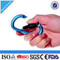 Logotipo personalizado que imprime el tipo de seguridad del aluminio D Snap Spring Mosquetón Link Link