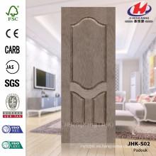 JHK-S02 La mejor venta HDF Asia de la alta calidad ampliamente utilizado Certificado Padauk Hoja de la puerta de Vneer