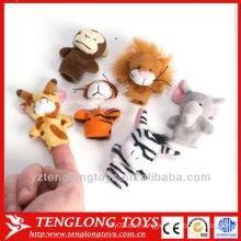 Bebé IQ juguetes de peluche marioneta dedo animal