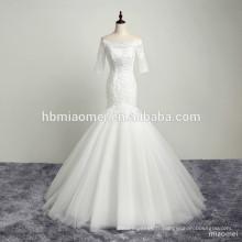 2017 conception personnalisée bateau cou paillettes dentelle appliqued beauté mariée robe de mariée sirène