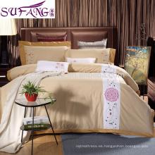 2017 Alibaba Supplier Knitted Bedding Sets Hotel Long Staple Tela de algodón Ropa de cama