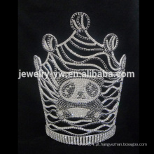 Atacado branco candy urso tiara big pageant natal coroa