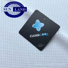 дышащая легкая подкладка обуви рубашка одежда 100% полиэстер cleancool серебряный ион анти-бактериальная вафельная ткань