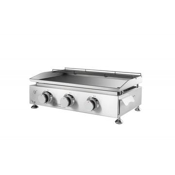 Stainnless Steel Portable Gas Griddle 3 Queimadores