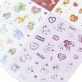 Bunte Aufkleber PVC Deko Stern Herz Alphabet Anzahl Klebstoff Aufkleber für Tagebuch Telefon Schreibwaren Schulbedarf Aufkleber