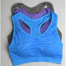 Seamless Jacquard Girls Half-Length Tennis Sportswear