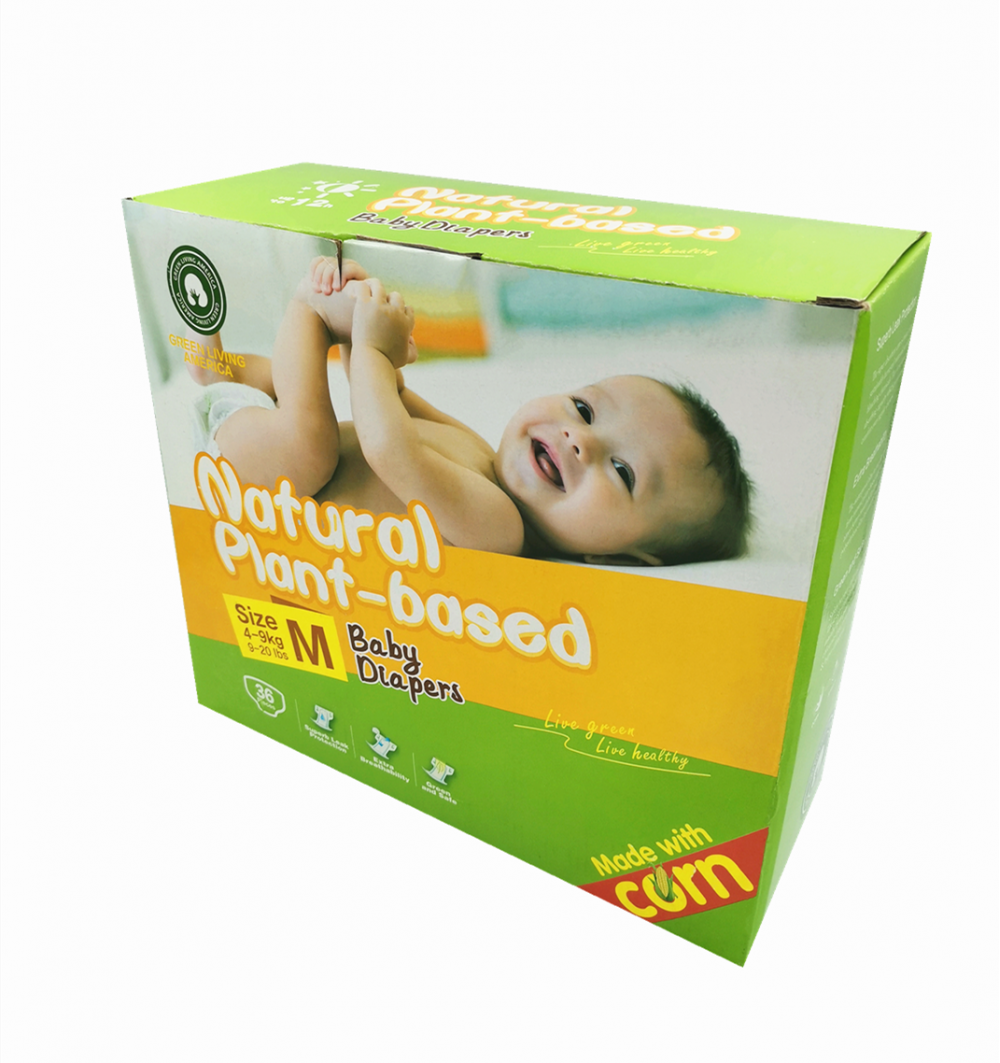Safe Plant-based Eco-Friendly Non-woven Fabric Baby Diapers