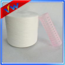 Optical white polyester sewing thread on plastic tube