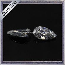 Joyería de moda gota forma sintética cz piedra preciosa